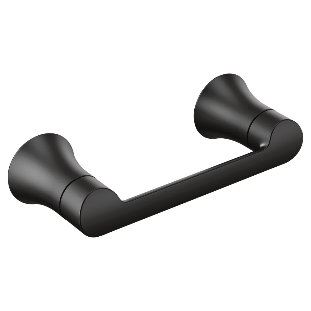 Moen Yb0208bn Doux Wall Mounted Double Post Build Com Wall Mounted Toilet Toilet Paper Holder Matte Black Bathroom