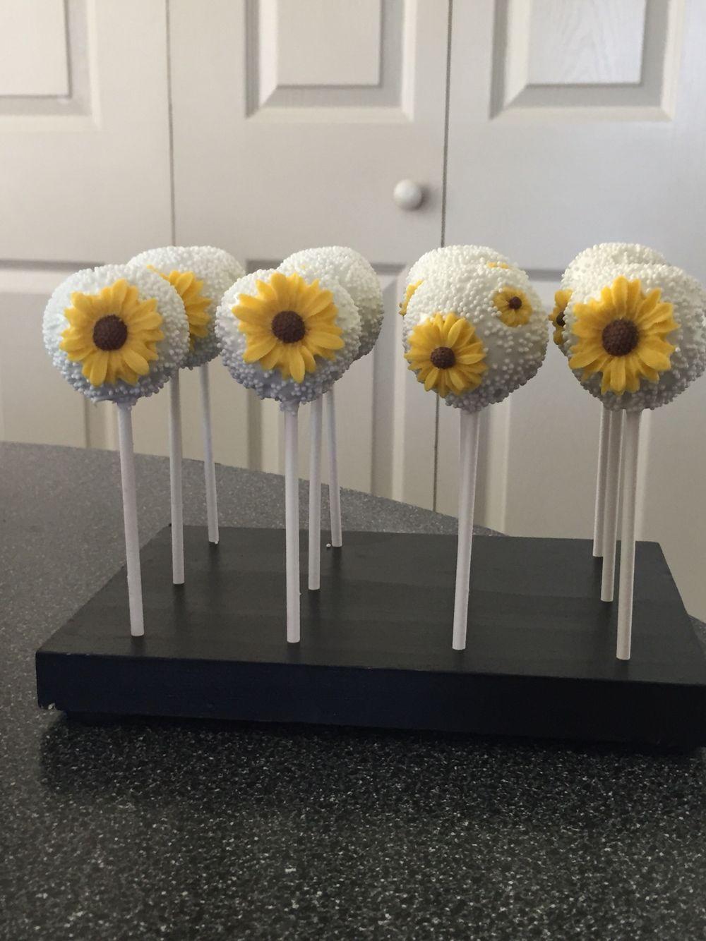 Sunflower Cakepops Sunflower bridal shower, Sunflower