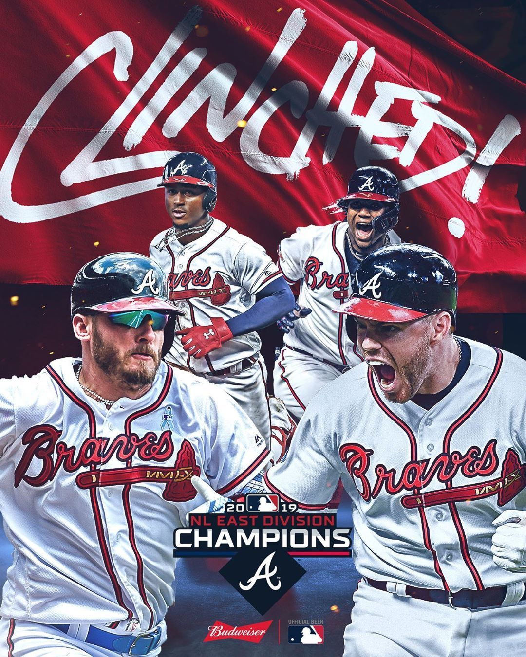 Mlb Back To Back The Braves Reign Supreme In The Nl East Clinched Baseball Big4 Bigfour Big4 Braves Atlanta Braves Baseball Atlanta Braves