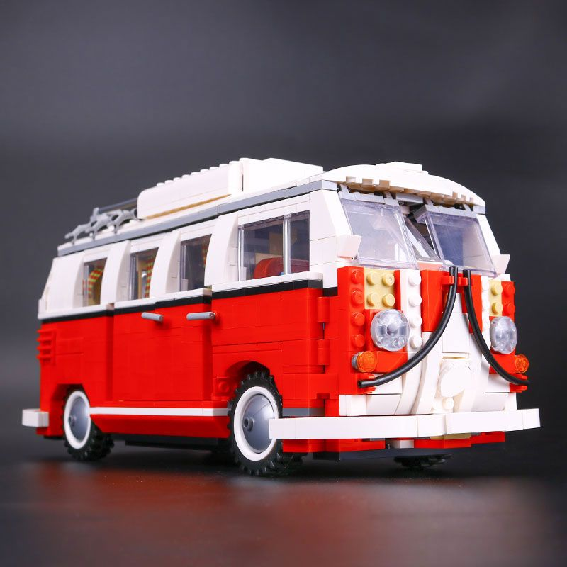 1354pcs Technic Series Volkswagen T1 Camper Van Model Blocks Kits Set Bricks Toy