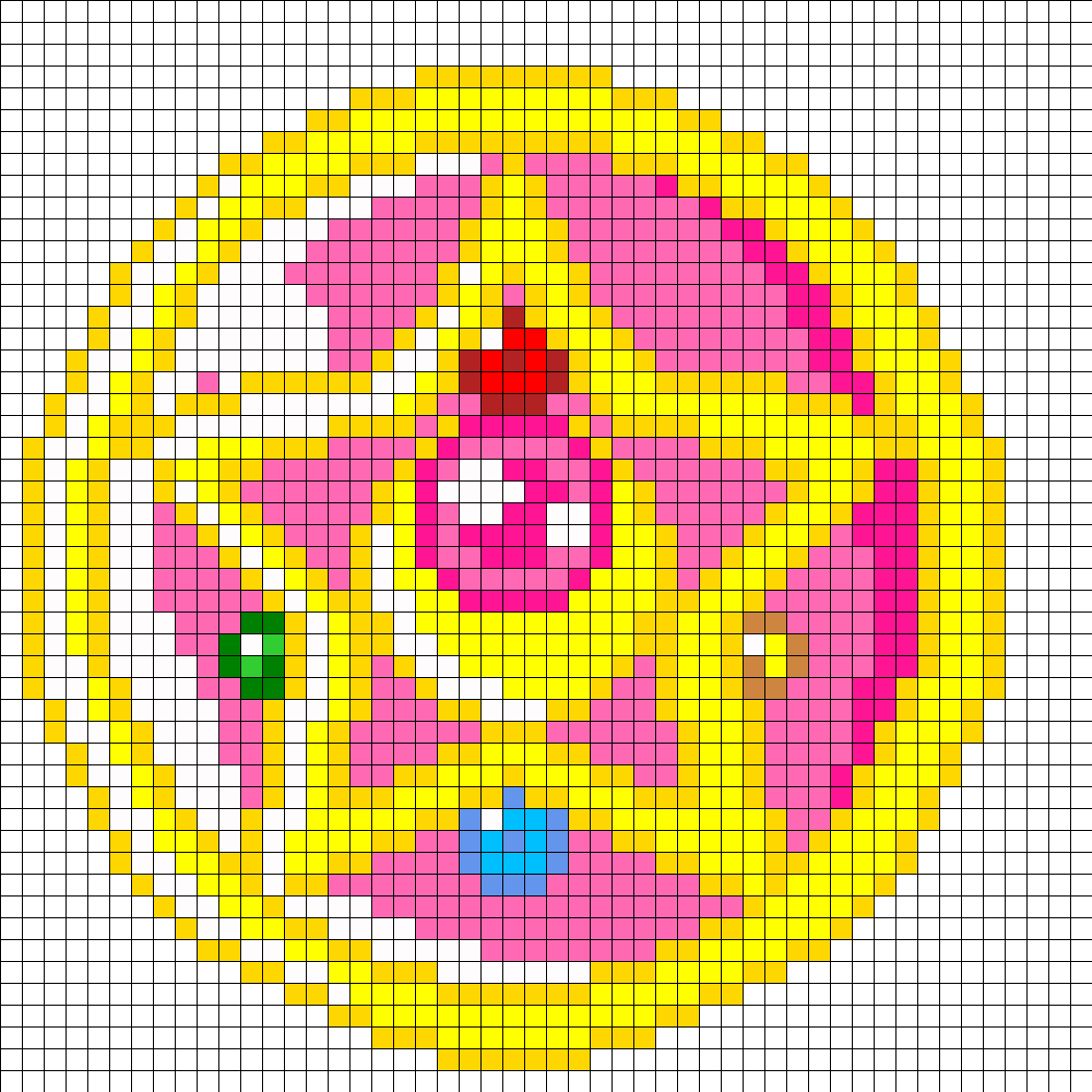 Crystal Star Perler Bead Pattern | Bead Sprites | Misc Fuse Bead Patterns