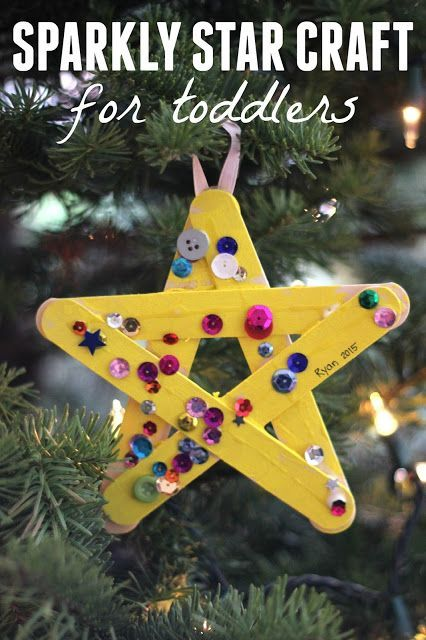 02619a7c56e4d Sparkly Star Craft for Toddlers | Handmade Ornaments for Kids ...