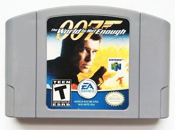 Vintage The World Is Not Enough 007 Jame Bond Goldeneye Nintendo