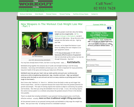 http://www.theworkoutclub.com.au/weapons-in-the-workout-club-weight-loss-war/ | New Weapons In The Workout club Weight Loss War - Part 1 | Losing weight and getting fit is tough but at The Workout Club we want to help our clients as much as possible. So we've got some new toys at our Darlinghurst personal training gym facilities including the fabulous kettlebells.