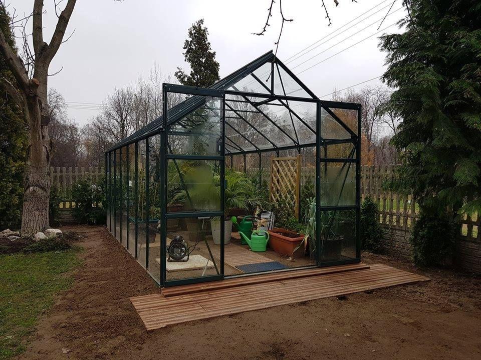 Glass garden greenhouse