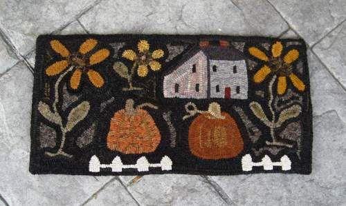 Primitive Autumn Harvest Fall Pumpkin Fruit Vegetable Folk Labels Set//4 16127