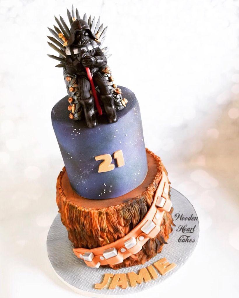 Game Of Thrones 21st Birthday Cake #chewbacca #starwars  #ironthrone