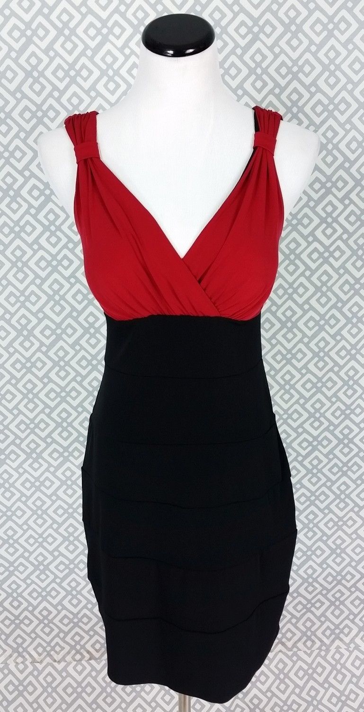 Nice great en focus studio black red sexy wiggle pencil dress size