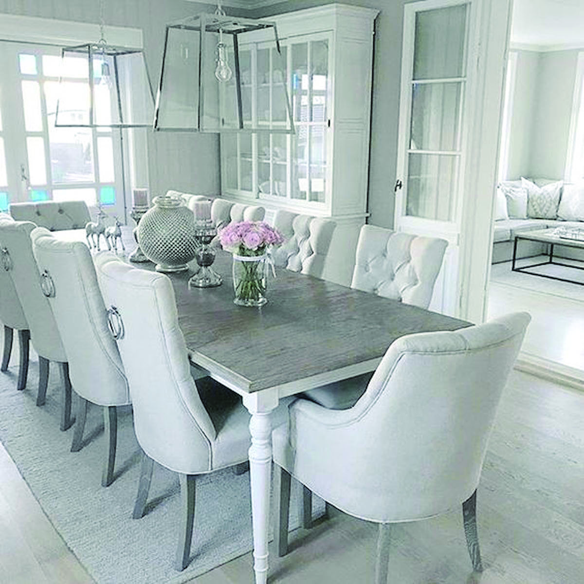 Just How 10 Top Professionals Do A Formal Dining Room White