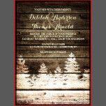 Rustic Barn Wood Pine Trees Winter Wedding Invite | Zazzle