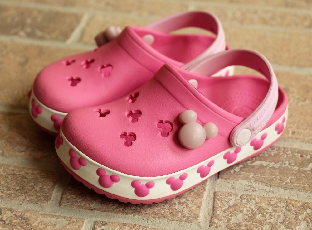 Crocs Mickey Minnie Mouse Pink White