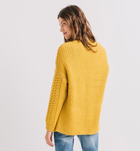 Oversized cardigan green-yellow - Promod | 4961565-women-s-clothes ...
