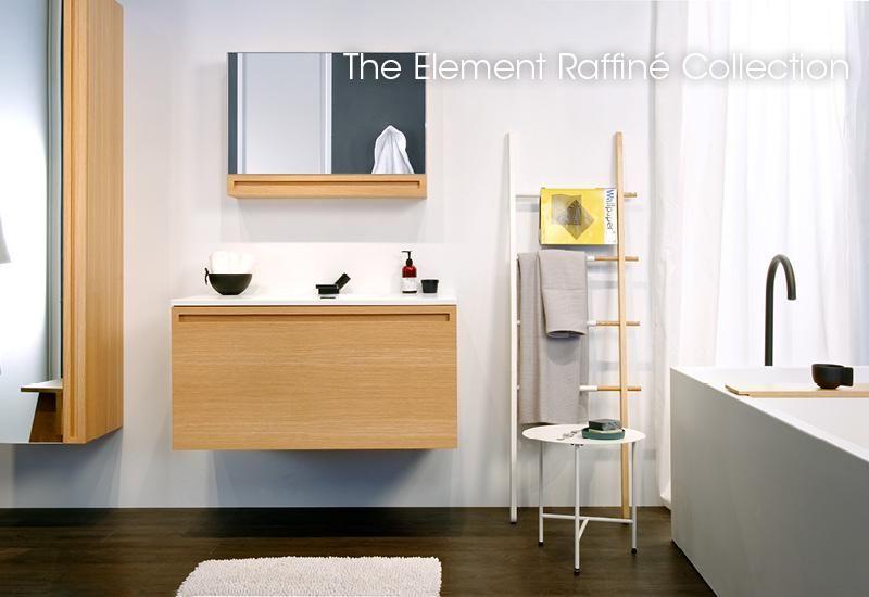 Element Raffine Collection Vanity Mirrored Cabinet Linen