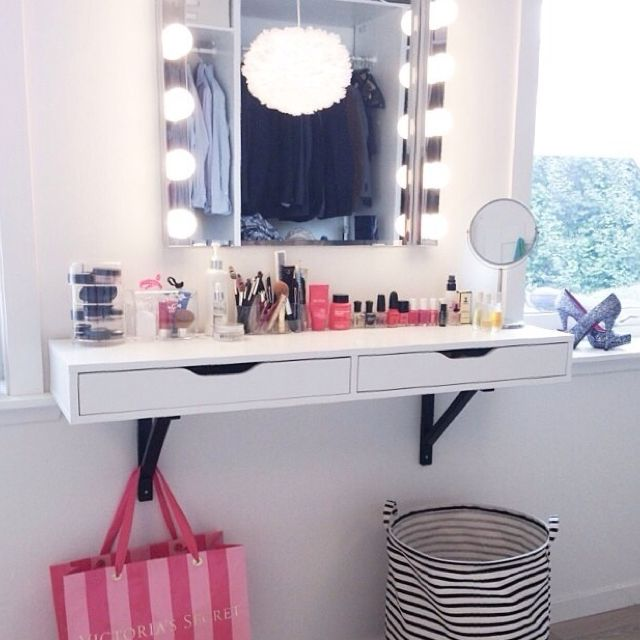 Please Help Me Find The Vanity Table That You Can Hang Onto The Wall Beauty Room Vanity Vanity Shelves Home