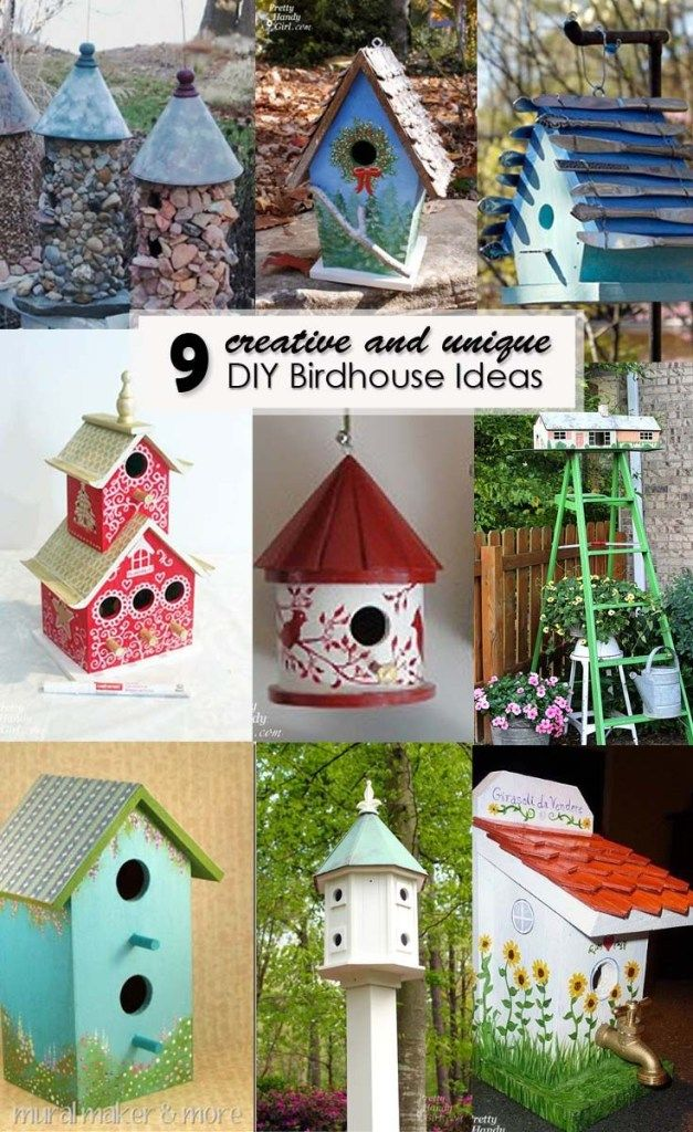 Creative and Unique DIY Birdhouses #birdhouses