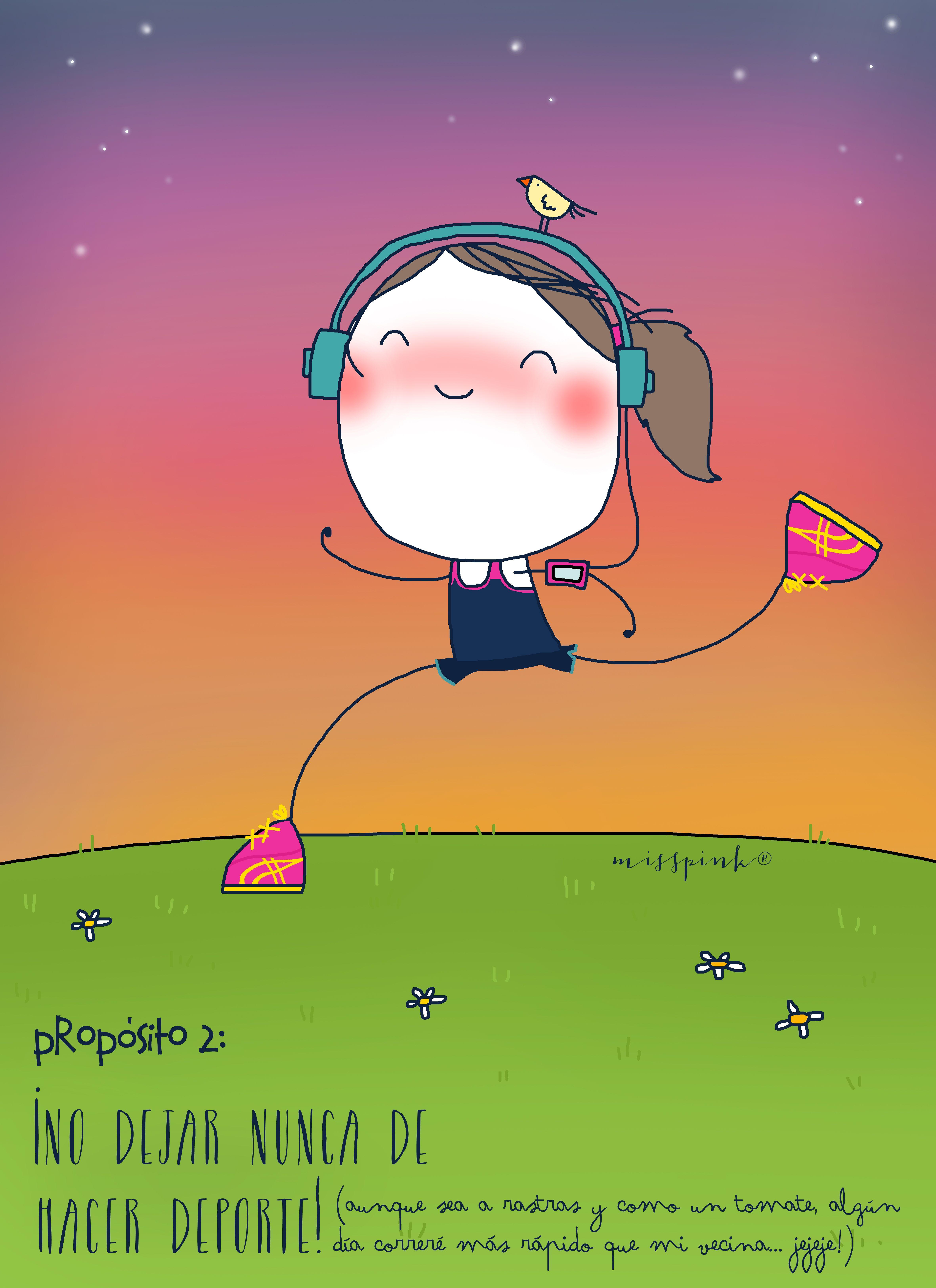 ¡ No dejar nunca de hacer deporte!, Propósito nº 2 ¡Seguir amando el deporte! misspink,