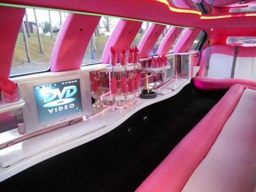 Pink limo interior. Come on Barbie, let's go party!