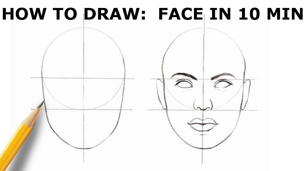 How To Draw Face Basic Proportion Youtube Face Drawing Drawing Tutorial Face Outline Drawings