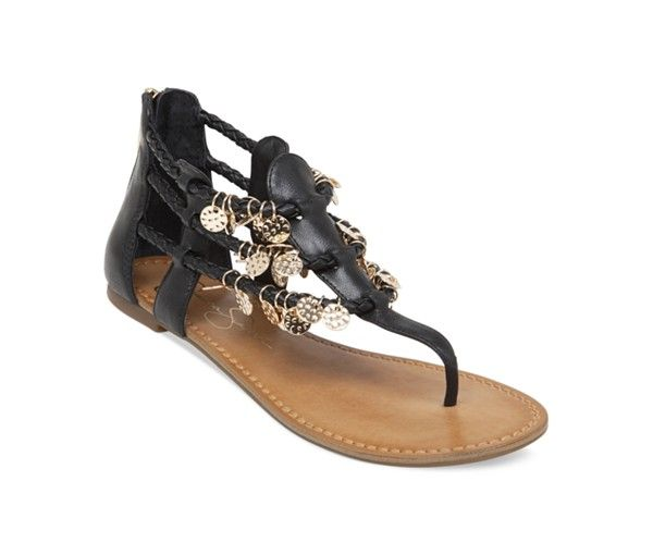 b0fb19d1268 Jessica Simpson Geisela Coin Embelished Flat Thong Sandals - Sale    Clearance - Shoes - Macy s