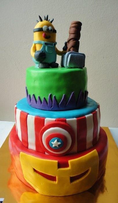 minion avengers cake cakes i love Pinterest Minion avengers