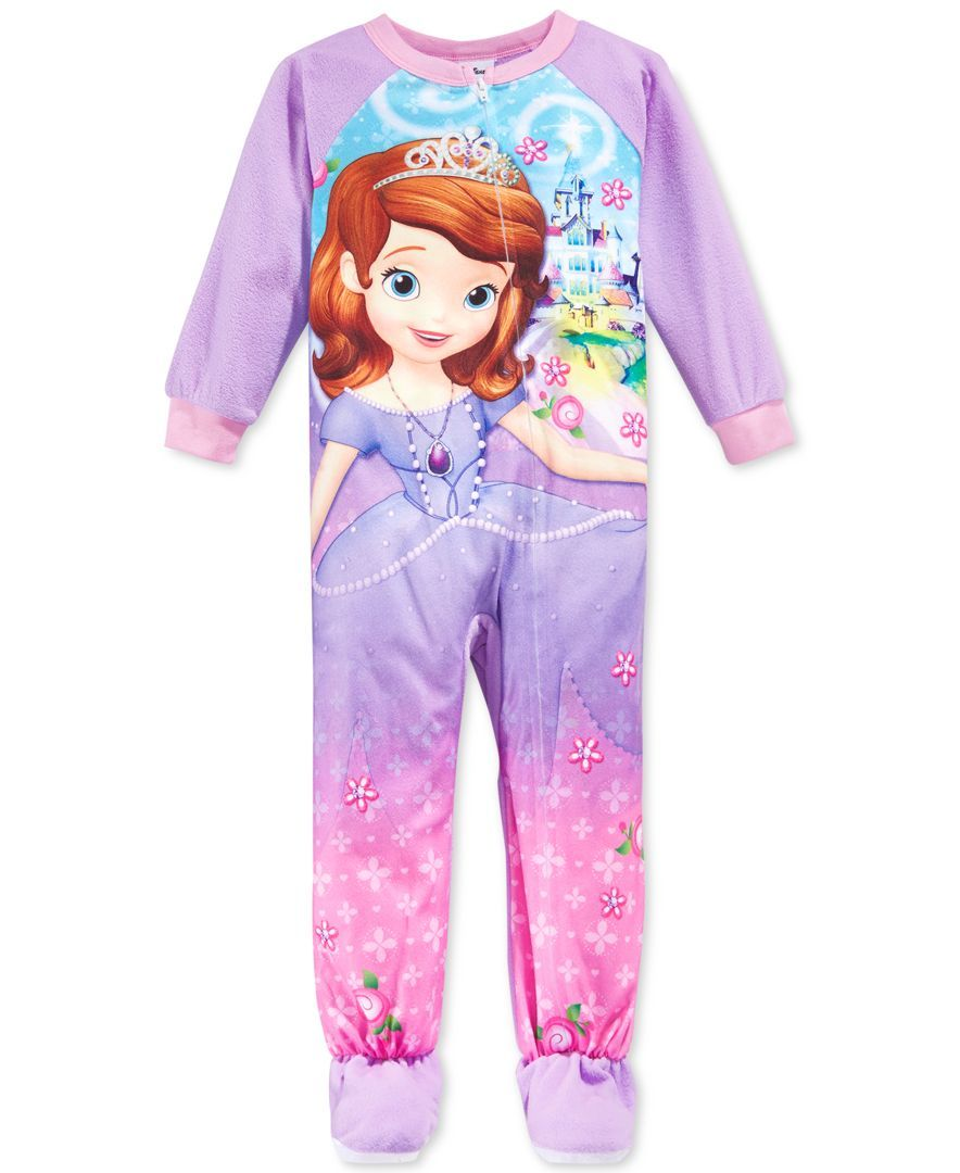 Sofia The First Toddler Little Girls  One-Piece Footed Pajamas ... 651a8e077