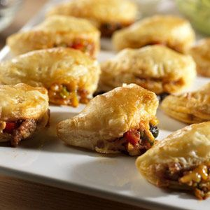 Gather the ingredients for the tasty empanadas and either bake right away or freeze to bake later. You will love having these appetizers on hand for any occasion.