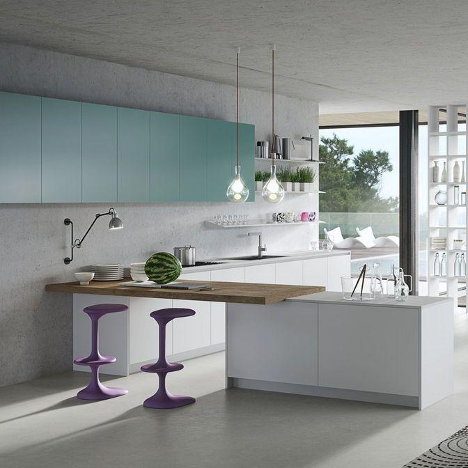 Moderne Küche \/ Holz \/ Laminat \/ L-förmig KARAN RASTELLI Kitchen - küche holz modern