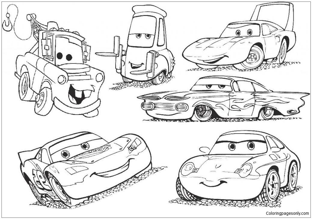 Disney Cars 2 Lightning Mcqueen Movie Coloring Page Http Coloringpagesonly Com Pages Dis Race Car Coloring Pages Cars Coloring Pages Coloring Pages For Boys