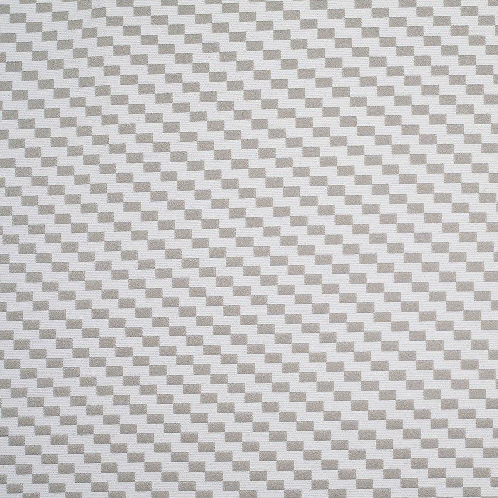 Fog and Pristine White Checkered Cotton Woven