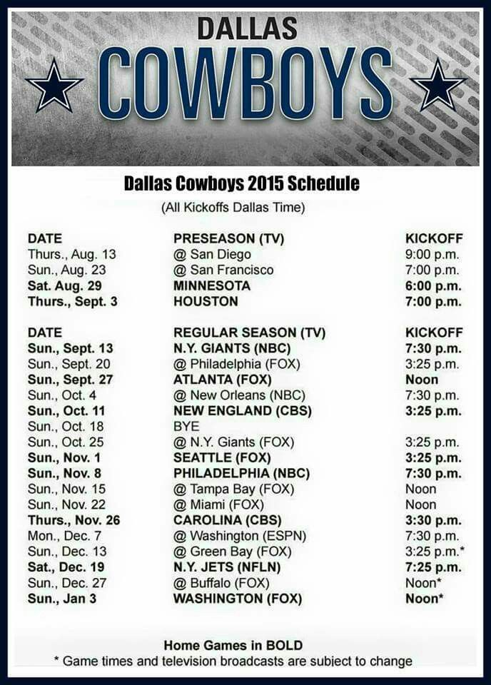 photograph about Dallas Cowboy Schedule Printable referred to as Pin by means of Helena Mills upon cowboys Nfl dallas cowboys, Dallas