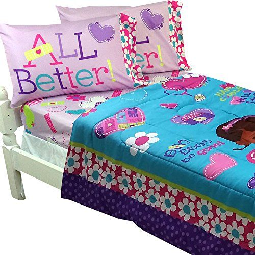 5pc Disney Doc Mcstuffins Full Bedding Set Doctor No More Boo Boos