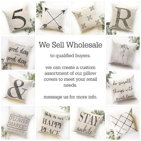 WHOLESALE Pillow Covers | Farmhouse Decor | Wholesaler