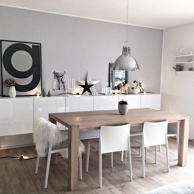 Inspiration #déco pour la salle à manger ! #décoration #gris #maison - Decoration Salle Salon Maison