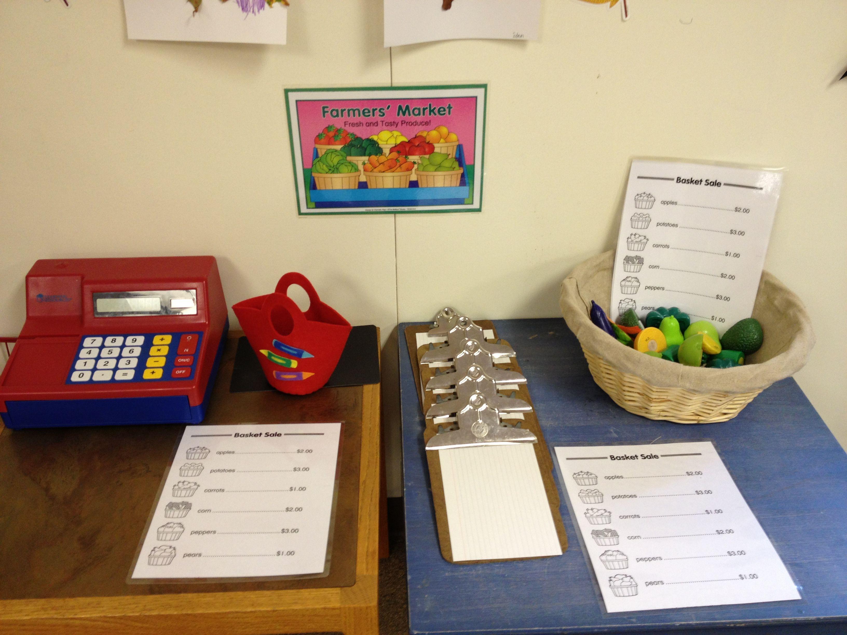Preschool And Pre K Fall Farmer S Market Dramatic Play Area