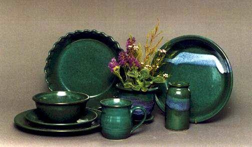 Jade green dinnerware - darker glazes show scratches faster. & Jade green dinnerware - darker glazes show scratches faster. | Dish ...