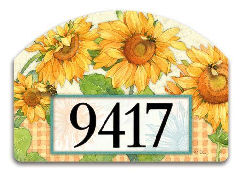 Summer Bees Address Sign By Magnetworks. $14.00. Decorative Home
