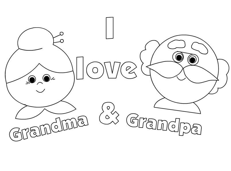Grandpas Day Coloring Pages
