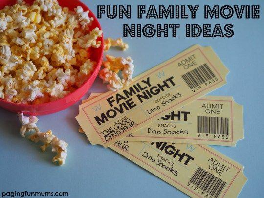 Fun Family Movie Night Ideas
