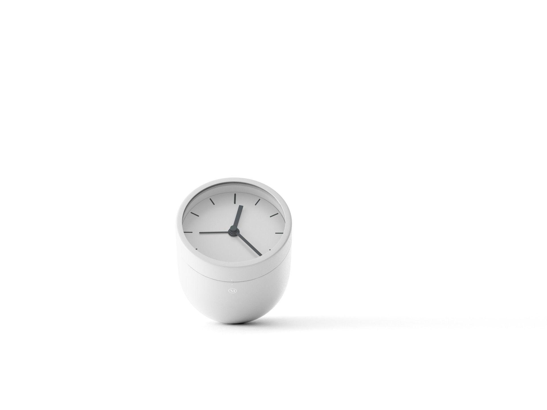 Tumbler Alarm Clock In White Design By Menu Clock Alarm Clock White Design