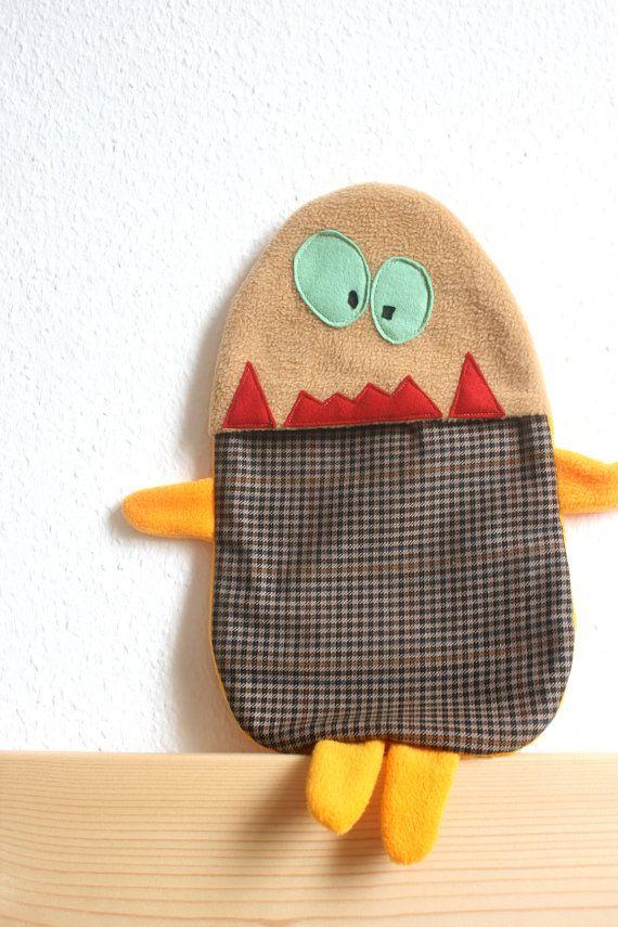 i love the monster 1s !!!!!!! | hot water bottle covers | Pinterest
