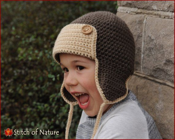 1f864f2ae01 Crochet PATTERN - The Skylar Aviator Hat