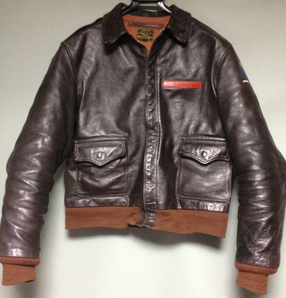 トイズマッコイ製 A2 V.HILTSヒルツネームプレートの塗装 Jackets レザージャケット、男性の