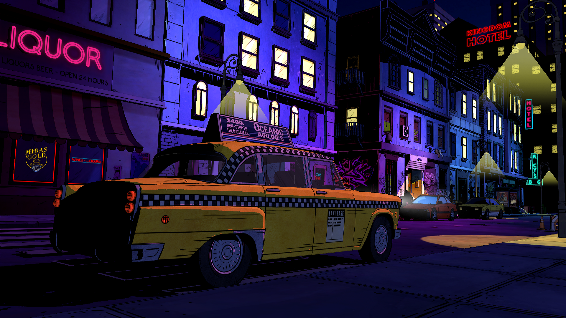 NeoNoir meets Neon (The Wolf Among Us) [1920x1080] The