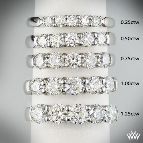 shared rings weight diamond xlarge bands band wedding carat total click stone prong