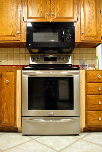 How Much To Replace Kitchen Cabinets Server Filling Gaps Around The Stove With Trim & Other Little ...