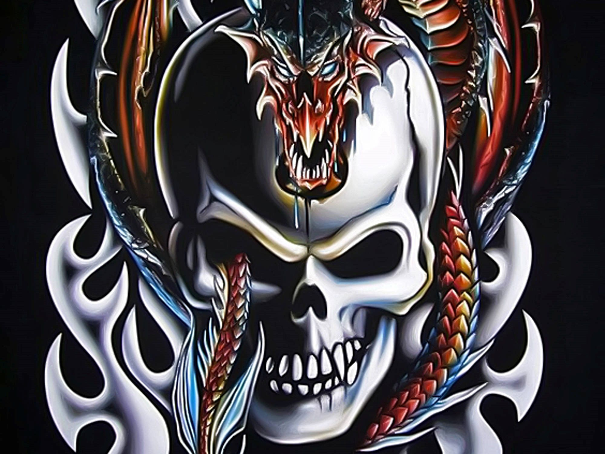 Dragon Skull Wallpaper In 2020 Skull Wallpaper Dragon Artwork Skull Artwork