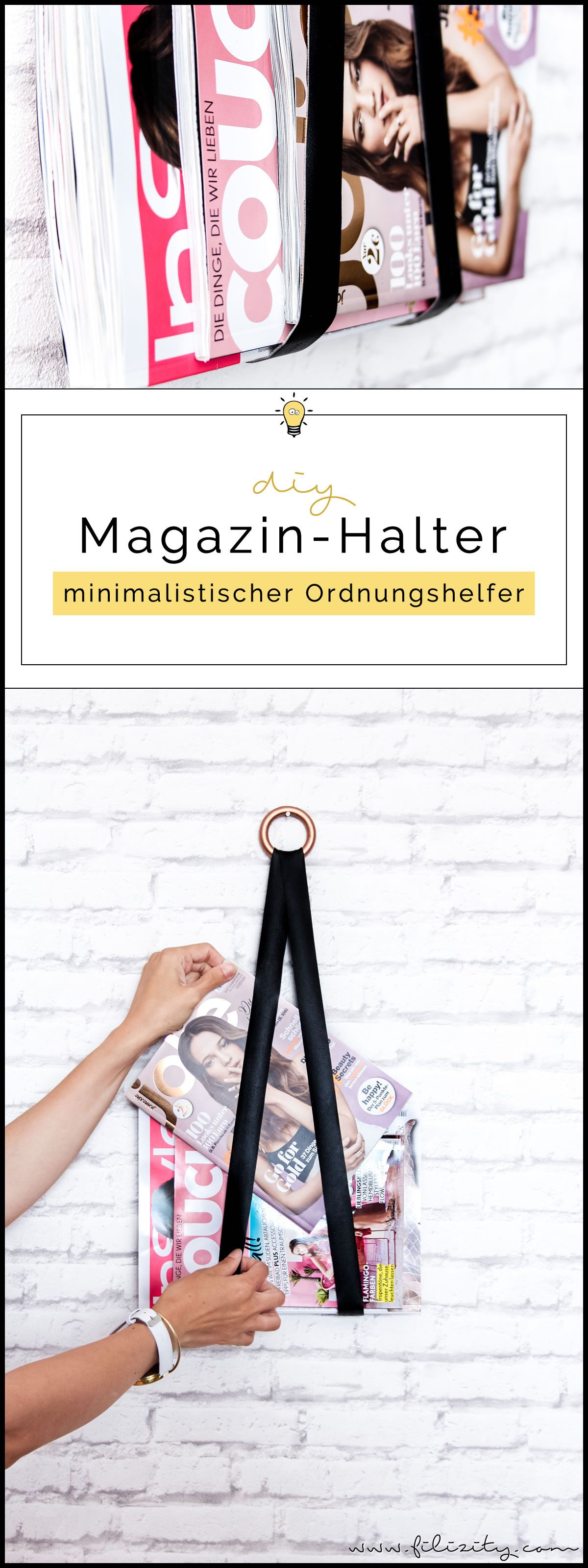 diy magazin halter diy basteln selbermachen pinterest diy deko deko und basteln. Black Bedroom Furniture Sets. Home Design Ideas