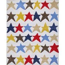 Rugsville Kids Star Beige Wool Rug 11978 - $460.08