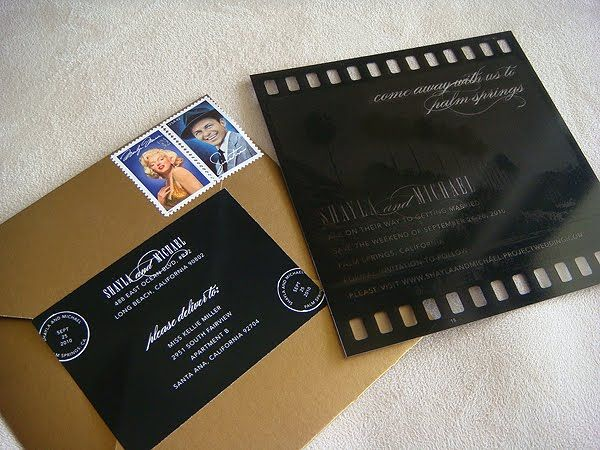 Old Hollywood Invitations. Love that it looks like a ...