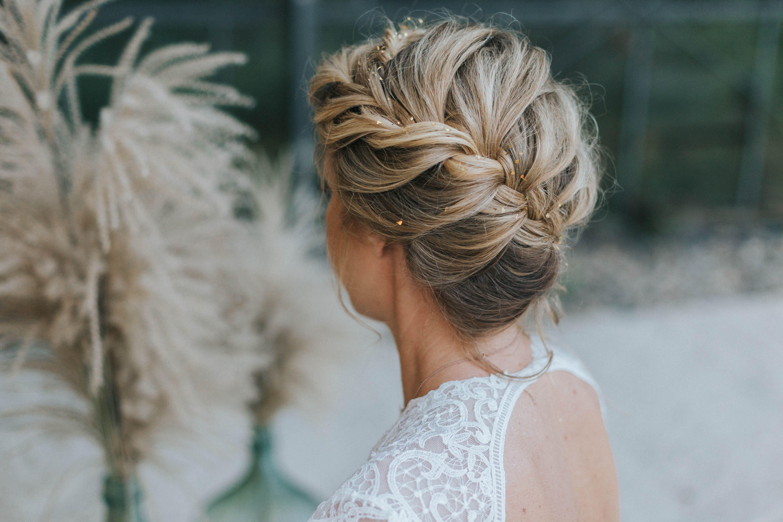 Hochzeit frisuren schulterlange haare